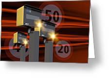 Traffic Speed Cameras Greeting Card