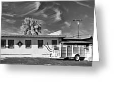 Trailer Town 2 Bw Greeting Card
