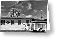 Trailer Town Bw Greeting Card