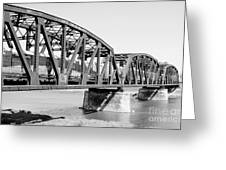 Train Across Bridge Greeting Card