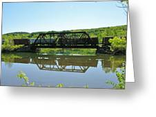 Train And Trestle Greeting Card