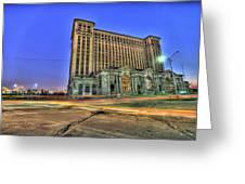 Michigan Central Train Depot Station Detroit Mi Greeting Card