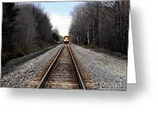 Train Head On Greeting Card