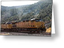 Train In Spanish Fork Canyon Greeting Card