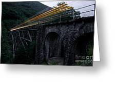 Train Lights Greeting Card