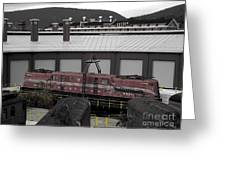 Train On The Table Greeting Card