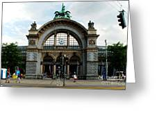 Train Station At Lucerne Greeting Card