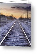 Train Tracks And Color 2 Greeting Card