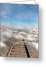 Train Tracks Into The Clouds Greeting Card