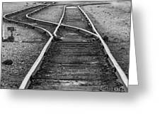 Train Tracks Switch Greeting Card