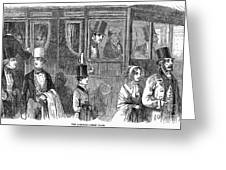 Train Travel: First Class Greeting Card