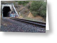 Train Tunnel At The Muir Trestle In Martinez California . 7d10228 Greeting Card by Wingsdomain Art and Photography