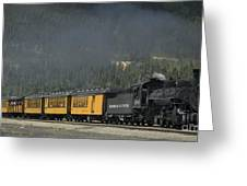 Trainload Of Tourists Greeting Card
