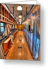 Trains - Post Office Mail Sorting Rail Car Inside I Greeting Card