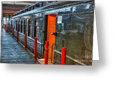 Trains - Side Of Rail Car In Round House Greeting Card