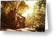 Trains A Coming Greeting Card