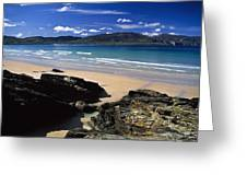 Tramore Strand And Loughros Mor Bay Greeting Card