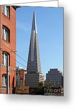 Transamerica Pyramid Tower In San Francisco . 7d7376 Greeting Card