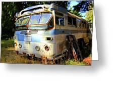 Transit Bus2 Greeting Card