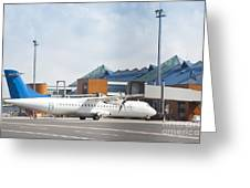 Transport Plane At The Airport Greeting Card