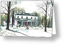 Travelers Rest Stage Stop Greeting Card