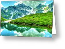 Travelers Rest Swiss Alps Greeting Card