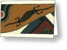 Traveling Goanna Greeting Card by Pat Saunders-White