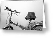 Traveling In Style . Black And White Greeting Card