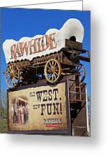 Traveling West Greeting Card