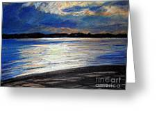 Traverse Bay Greeting Card by Lisa Dionne
