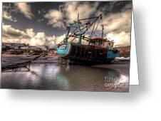 Trawler At New Quay Greeting Card