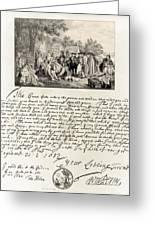 Treaty Between William Penn Greeting Card