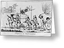 Treaty Of Paris, 1783 Greeting Card
