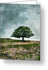 Tree And Wildflowers  Greeting Card
