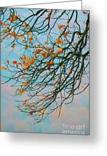 Tree Branches In Autumn Greeting Card