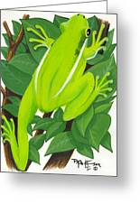 Tree Frog At Rest Greeting Card