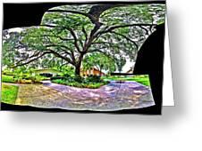 Tree In Church Yard - 4 Greeting Card