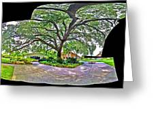 Tree In Church Yard Greeting Card