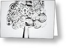 Tree Of Industrial Greeting Card