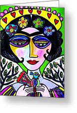 Tree Of Life Nest Goddess Greeting Card