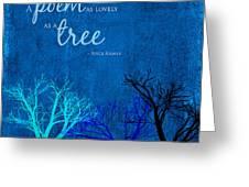 Tree Poem Greeting Card