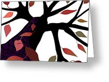 Tree With Autumn Leaves Greeting Card