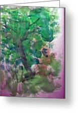 Tree.cohen And Me Greeting Card by Peter Edward Green