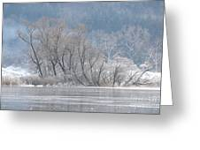 Trees On A Frozen Lake Greeting Card