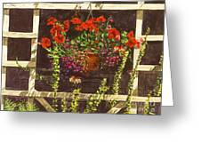 Trellis Flower Pot Greeting Card