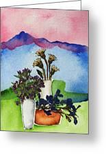 Tres Vasos Greeting Card by Regina Ammerman
