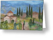 Tres Visitas En Segovia Greeting Card