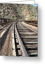 Trestle Tracks Greeting Card