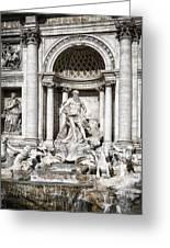 Trevi Fountain Detail Greeting Card