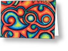 Tribal Design 1 Greeting Card